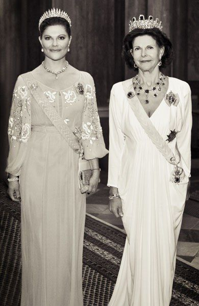 ready4royalty:  Crown Princess Victoria and Queen Silvia