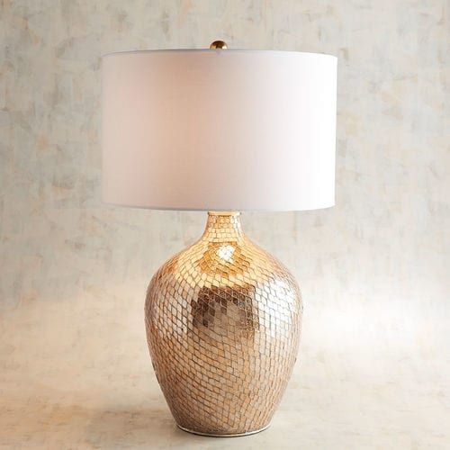 You Like Your Decor To Reflect Your Unique Sense Of Style And Our Distinctive Table Lamp Will Do Just That The Handcrafted Golden Mosaic Base Is Comp Interer