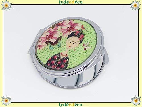 Accroche sac /à main r/ésine Frida Kahlo papillon vert rose m/étal argent/é cadeaux personnalis/és cadeau noel amis maman anniversaire c/ér/émonie mariage invit/és f/ête des m/ères couples femme