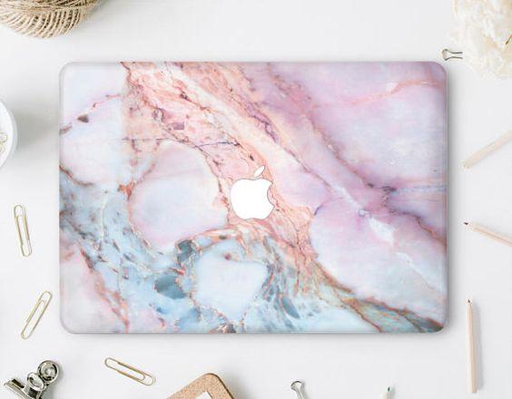 Purple Floral MacBook Air Case Laptop Pro Retina 13 Pink Hard Case MacBook Air 13 Clear Case Flowers MacBook Pro 15 Cover Retina 15 DV003