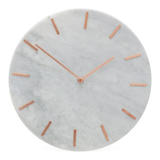 Orwell Marble Effect Round Wall Clock Copper Round Wall Clocks Wall Clock Large Contemporary Wall Clock