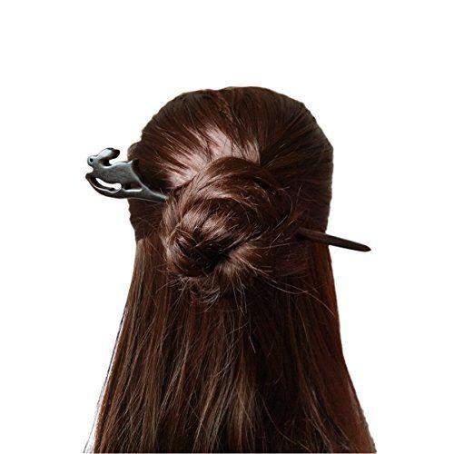 Hair Stick// Hair Pin//Hair Clip Women Cute Prong Hair Wooden  Pin Fork Pick
