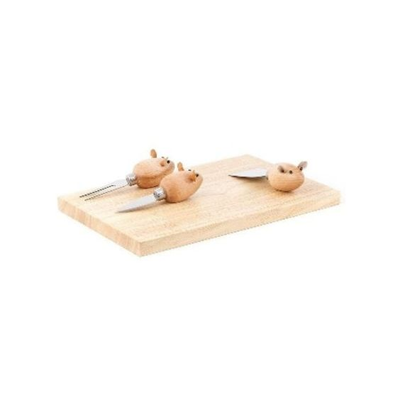 Kikkerland Three Blind Mice Cheese Board Set ($42) ❤ liked on Polyvore featuring home, kitchen & dining, serveware, cheese board and kikkerland
