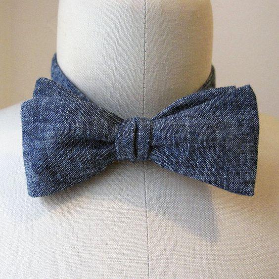 Hemp and organic cotton eco bow tie