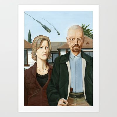 The Heisenbergs Art Print by Brian DeYoung Illustration - $20.00