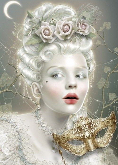 maxine gadd cinderella masquerade fantasy art painting