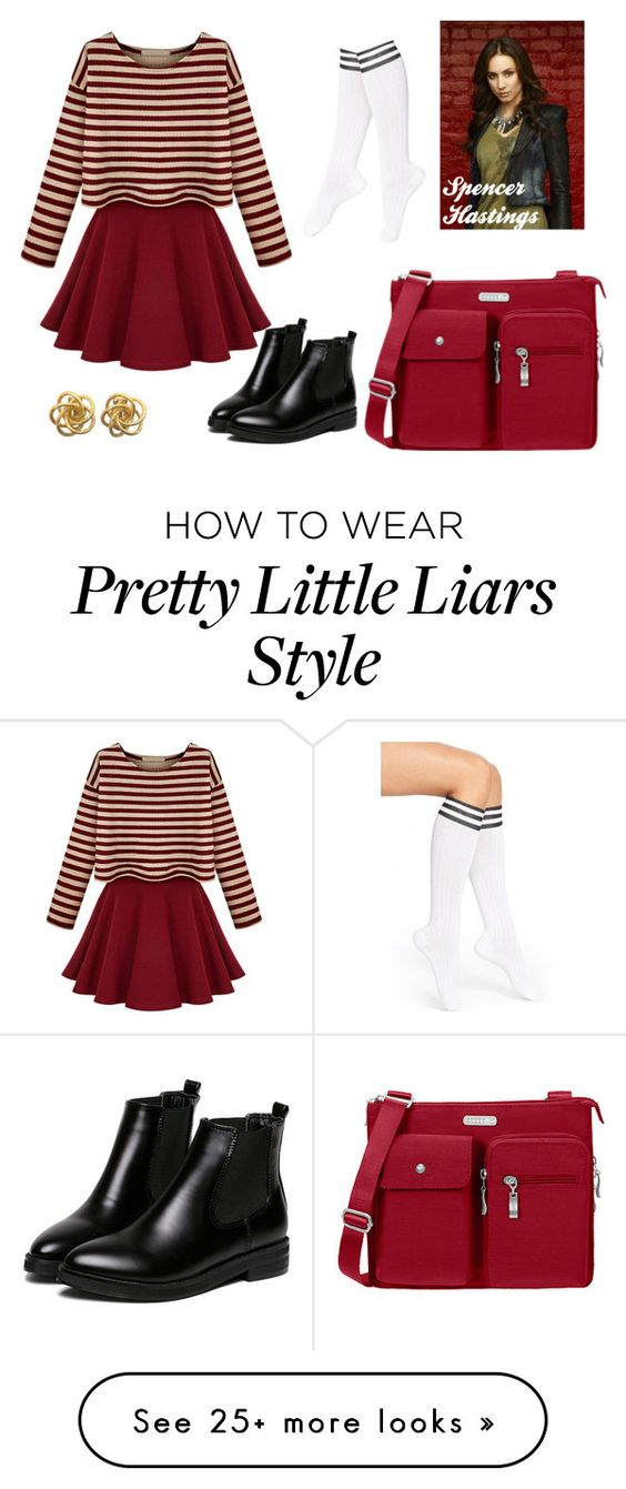 """""""PrettyLittleLiars: Spencer Hastings"""" by rikaaglich on Polyvore featuring Arthur George, WithChic and Baggallini"""