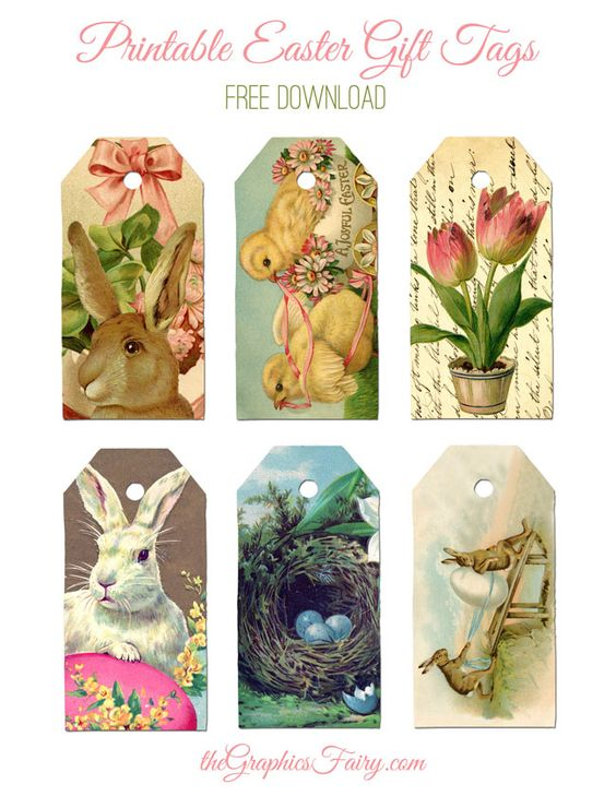 (FREE!!) Printable Easter Gift Tags - The Graphics Fairy