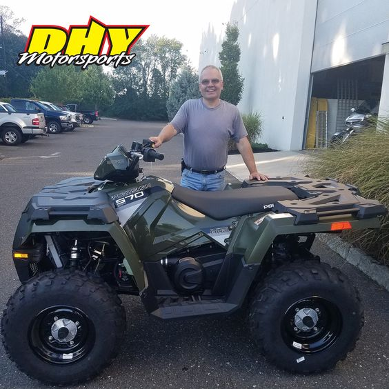 Congrats Eric, on your purchase of this 2016 #Polaris #Sportsman570 Get ready for fun in the woods and in the yard. Thank you for making your purchase at #DHYMotorsports #mynewride #Clicktohelpmewinagiftcard #dhynj