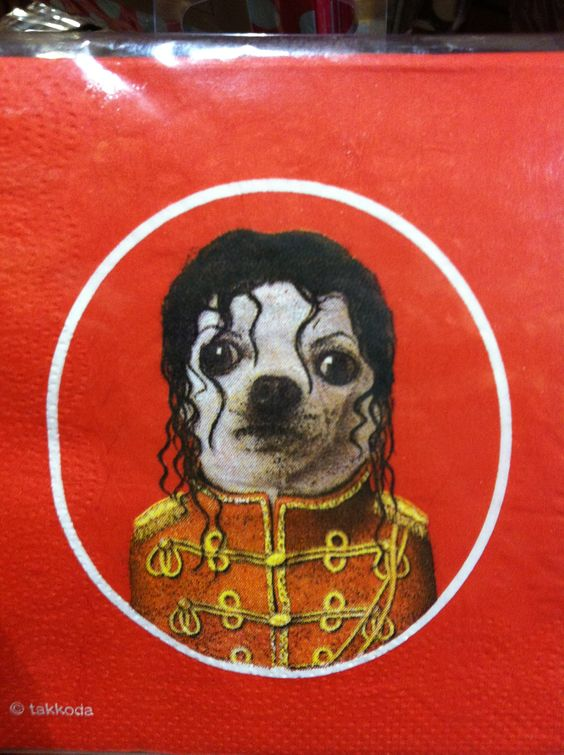 Awesome Michael Jackson Chihuahua napkins found at World Market <3