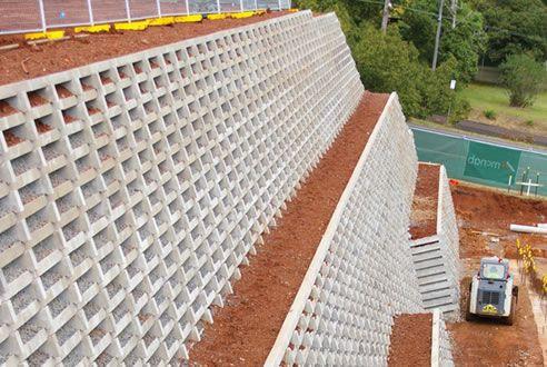 Crib Wall Retaining Systems Concrib Richlands Qld 4077 Retaining Wall Design Concrete Retaining Walls Retaining Wall Construction