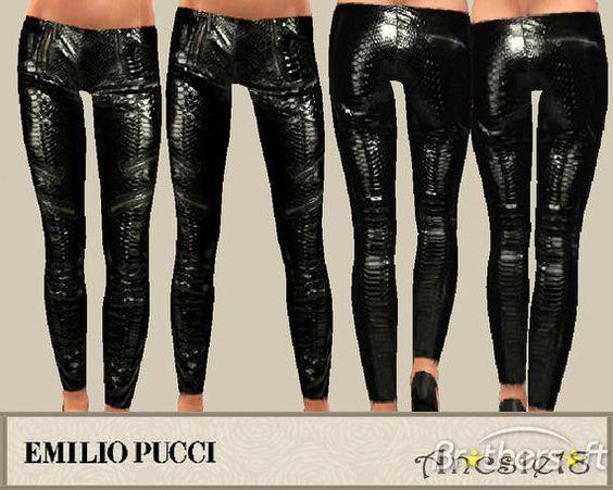 Emilo Pucci glossy python pants