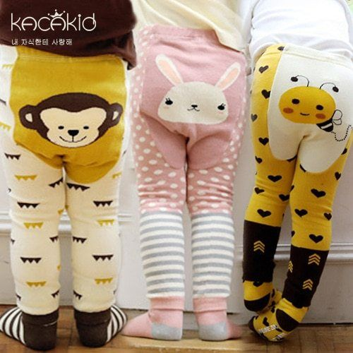 Toddler Baby Cartoon Printed Casual Long Leggings Pants Trousers Kids Little Girls Clothes