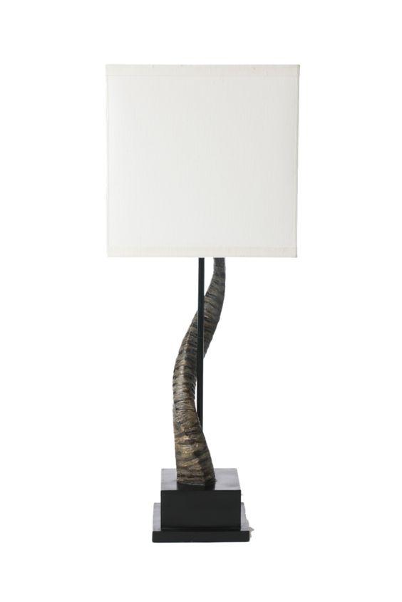 Horn+Lamp+W/Shade+-+Barbara+Cosgrove+-+$290.00+-+domino.com