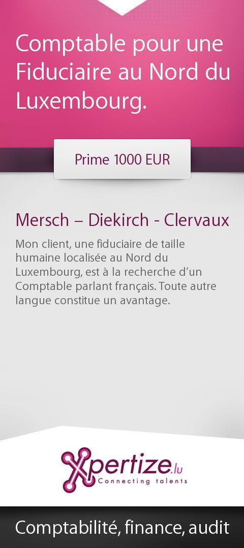 Comptable pour une Fiduciaire au Nord du Luxembourg.