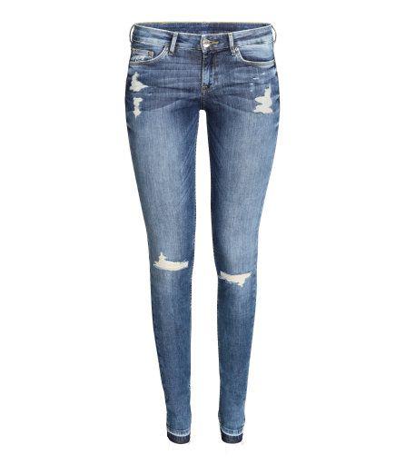 Super Skinny Low Ripped Jeans | Light denim blue | Ladies | H&M US