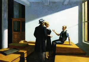 Conference at Night,Edward Hopper
