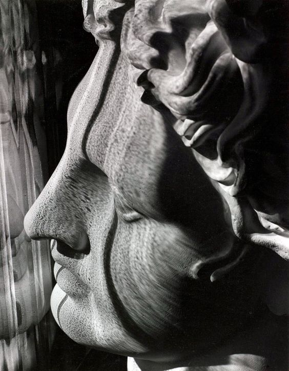 Carlotta M. Corpron,  Light Follows Form of Greek Head, ca 1946. S)