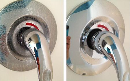 natural cleaning ideas ....remove hard water stains from shower