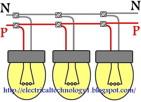 How To Wire Lights In Parallel Switches Bulbs Connection In Parallel Wire Lights Parallel Wiring Electrical Projects