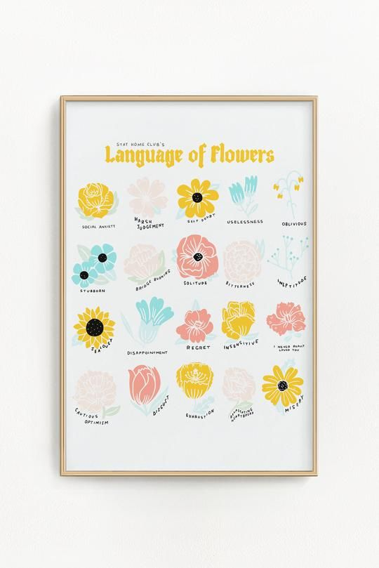 Language Of Flowers Riso Print 11 X 17 Riso Print Risograph Print Language Of Flowers