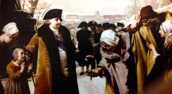 Luis XVI visitando a su pueblo en el crudo invierno de 1788