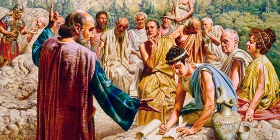 Pablo pronuncia un discurso en Atenas