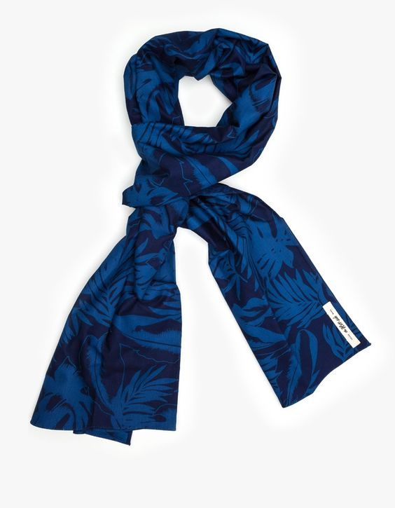 The Hill-side Japanese Selvedge Indigo Tropical Scarf