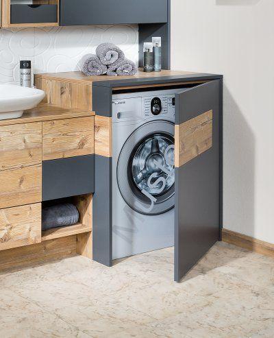 Waschmaschinenverbau Einrichten Waschmaschinen Einrichten Leiter Waschmaschinen Waschmaschin Rustikale Bad Eitelkeiten Badezimmer Badezimmer Klein