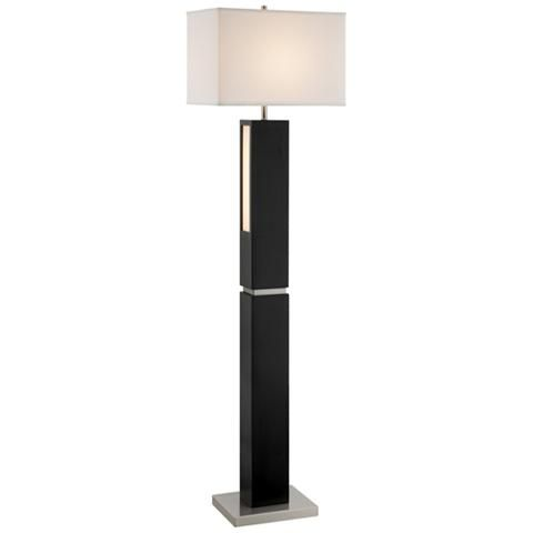 Lite Source Moulton Black Floor Lamp With Led Night Light Floor Lamp Led Night Light Black Floor Lamp