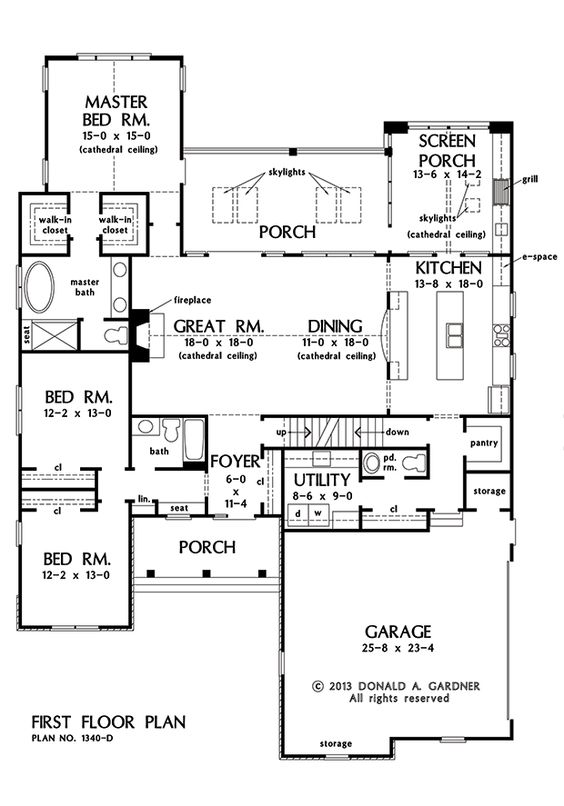 Now available hillside walkout plan 1340 d Hillside garage plans