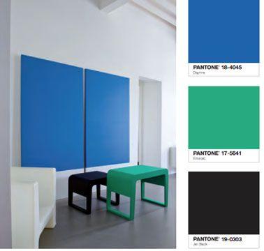 Nuancier tollens 40 couleurs peinture chez castorama for Couleur bleu vert