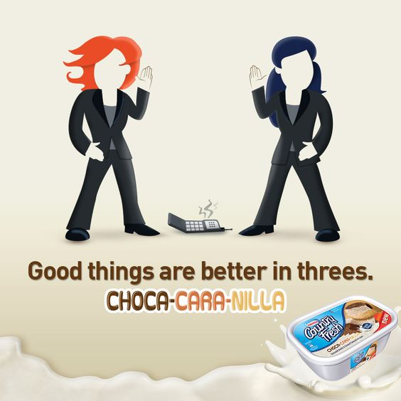 We know! We know! Something's missing… That's why we had to put together Choca-Cara-Nilla Country Fresh ice cream! :-D