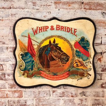 Whip and Bridle Metal Sign - eclectic - artwork - atlanta - Iron Accents