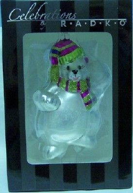 Radko Polar Bear Celebrations Christmas Ornament New $19.99: Polar Bears, Christmas Ornaments, Bear Celebrations
