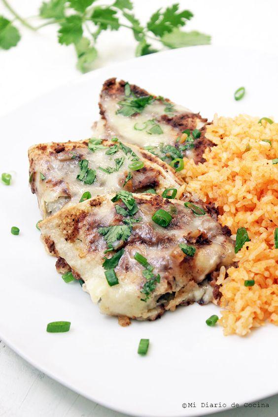 Mi Diario de Cocina | Enfrijoladas #cincodemayo| http://www.midiariodecocina.com/en