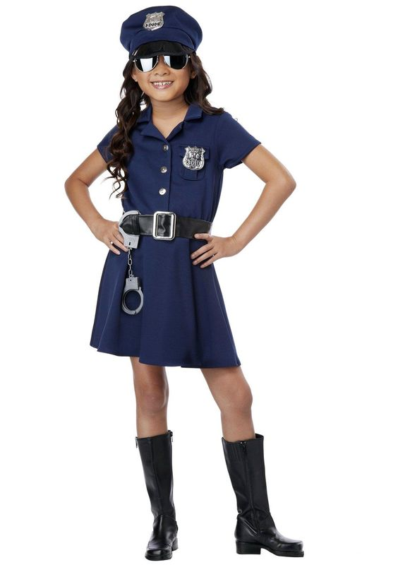 Girl Police Officer Costume from CostumeExpress costume