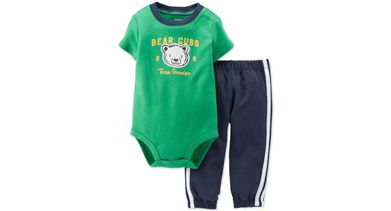 Carter's Baby Boys' 2-Piece Bear Bodysuit & Pants Set