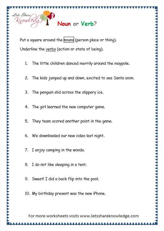 Grade 3 Grammar Topic 5 Parts Of Speech Worksheets Parts Of