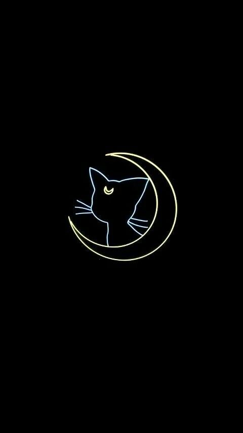 A Witches Cat Sailor Moon Wallpaper Sailor Moon Aesthetic Cat
