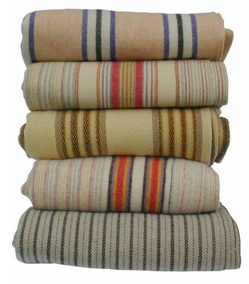 Antique Welsh Blankets. Very pretty stripes for future blankets or tea towels.