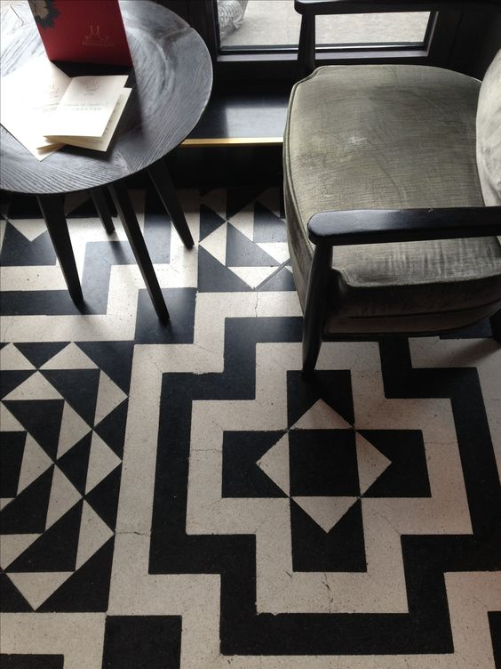 5 reasons not to fear black white floors beautiful black and white tiles and patterns. Black Bedroom Furniture Sets. Home Design Ideas