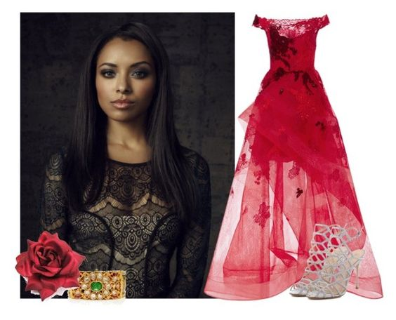 Violet Katarina Royale by fanfic123fanatic on Polyvore featuring polyvore fashion style Marchesa Schutz Amrapali clothing