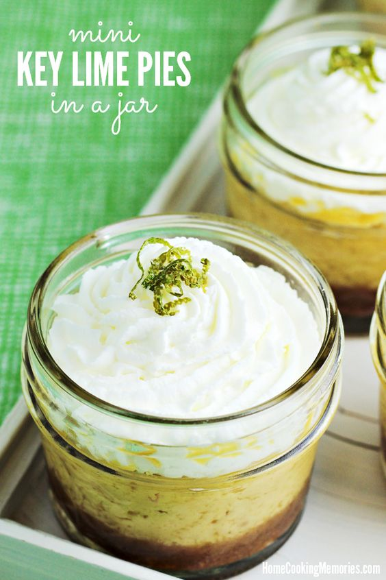 FEATURED!!  These Mini Key Lime Pies in a Jar are not only cute, but delicious and simple to make. Great for parties or as a memorable dessert for your family.