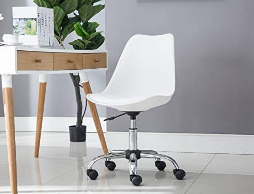Amazon Com Porthos Home Adjustable Height Cushioned Seat Office Desk Chair With Chrome Base And Caster Wheels Adjustable Office Chair Desk Chair Office Chair