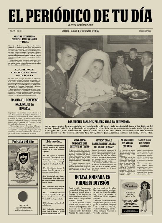 Los reci n casados felices tras la ceremonia los - Regalos 50 anos de casados ...