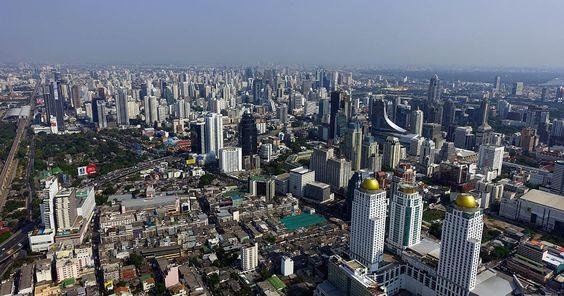 Baiyoke2 Tower Bangkok - view from the top