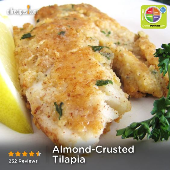 -Crusted Tilapia | Tilapia is coated with ground almonds and Parmesan ...