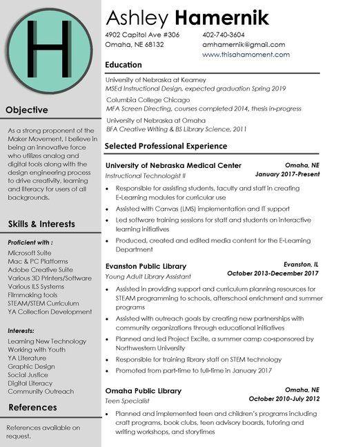 Image Result For Instructional Design Resume Instructional Design Resume Design Creative Writing