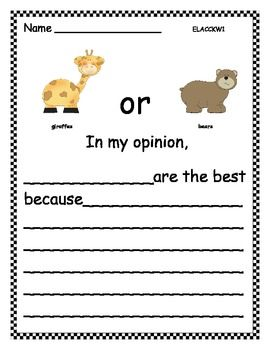 zoo animals opinion writing teaching homework and writing papers opinion writing favorite zoo animal 7 pages more topics available